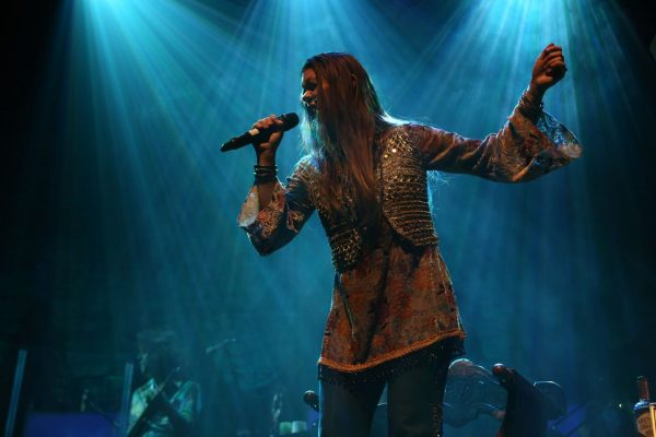 "In crystal encrusted bellbottoms and flowing tunic, Kelly McIntyre embodies the star of ""A Night with Janis Joplin,"" in performance at Laguna Playhouse through Sept. 10."