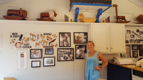 Jennifer Kucera Rothman with her puzzles and Sawdust family photos. Photos by Daniella Walsh.