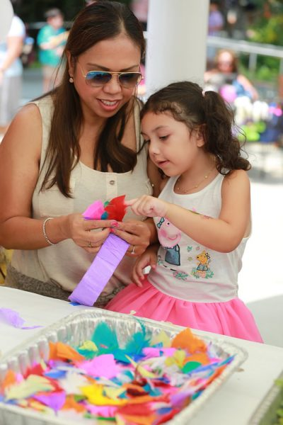Participants in Family Art Day on the festival grounds benefited from the grant.