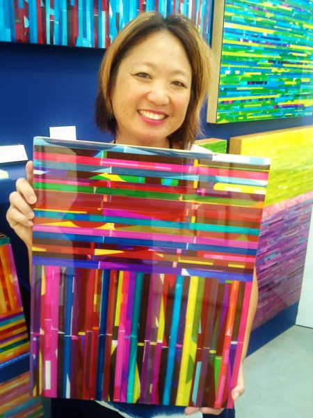 Rachelle Chuang with her Art-To-Go item. Photo courtesy of Art-To-Go.