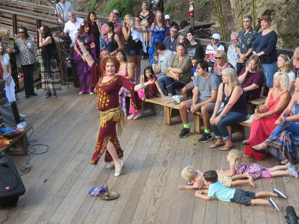 Guest artists join Jeri St. James and the Habibis, the town's belly dance troupe, for Sawdust Festival shows at 6:30 and 7:30 p.m. Sunday, Aug. 20.