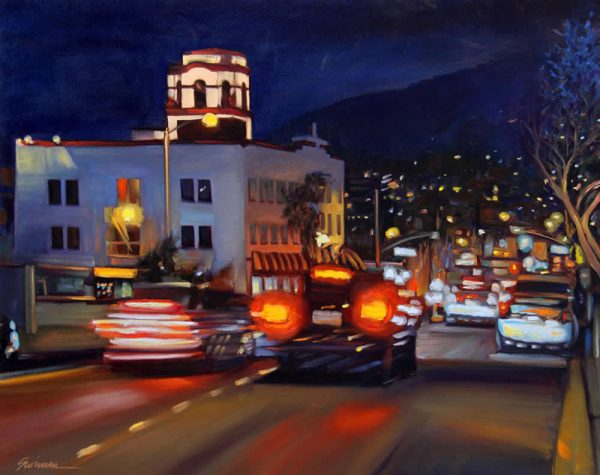 """Hot Laguna Night"" as depicted by artist Tom Swimm of San Clemente."
