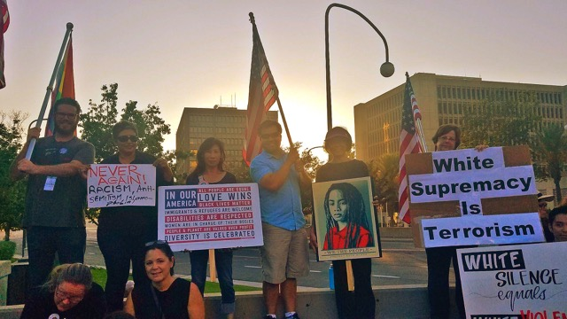 A quickly organized rally this past Sunday in Santa Ana.