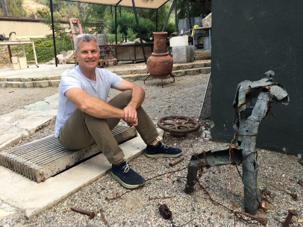 Sculptor Louis Longi believes the way is finally cleared for him develop the complex for artists he envisioned a decade ago.  Photo by lauren Kourdner.