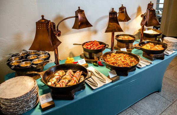 The breakfast buffet at Las Brisas includes items with a decadent twist.