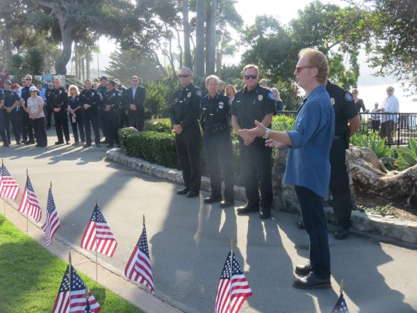 Memorial creator Jorg Dubin also spoke at the ceremony.