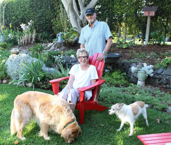 Sharon and Roger McErlane invite supporters to their backyard.