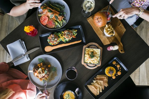 A sampler of what's on the menu at Oak, a new dining spot in the HIP District, at Oak and Coast Highway.