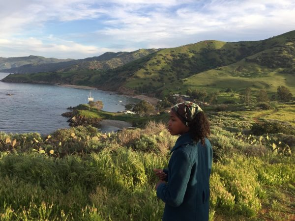 The island across San Pedro Channel is no longer a mystery for students from Pasadena. They camped at Catalina's Emerald Bay during a weekend excursion of snorkeling, hiking and learning about ocean plants and animals. Photo by Susan Campbell.