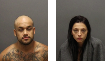 Zachary Morales and Tiffanie Moreland, suspects arrested over a local break-in.
