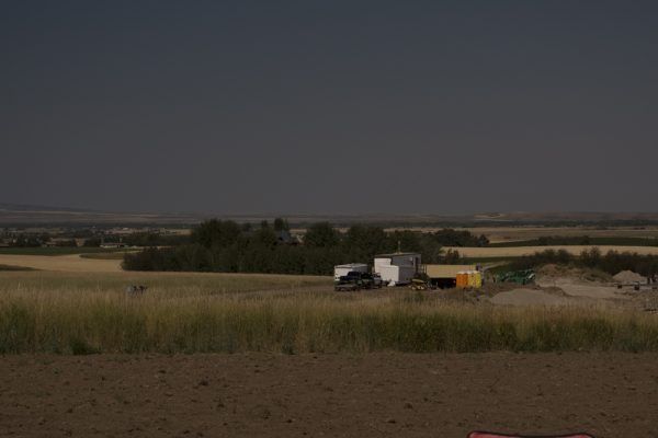 Darkness descends at midday over Wyoming during last week's solar eclipse. Photo by Patti Ohslund.