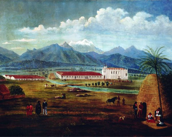 "Ferdinand Deppe's ""San Gabriel Mission."""