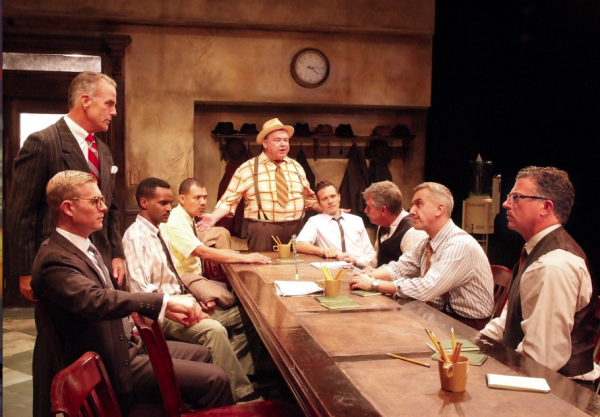 "The Laguna Playhouse production of  ""12 Angry Men"" stars an ensemble cast of veteran stage and television actors."