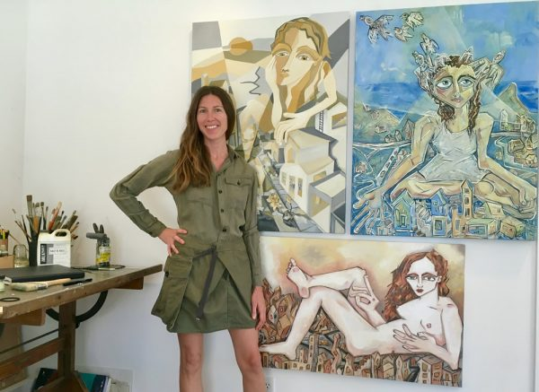 Artist Dana Richardson and her work.