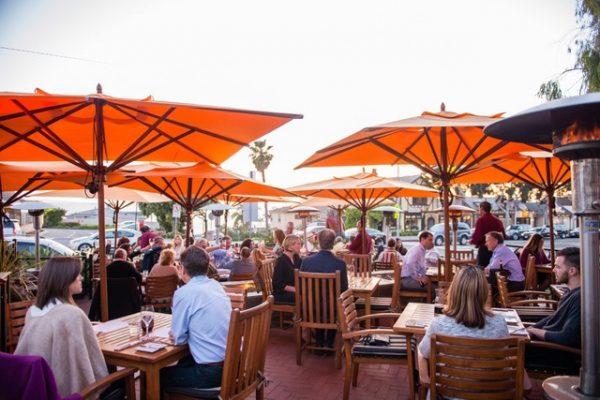 Guests dine at Sapphire in Laguna Beach.