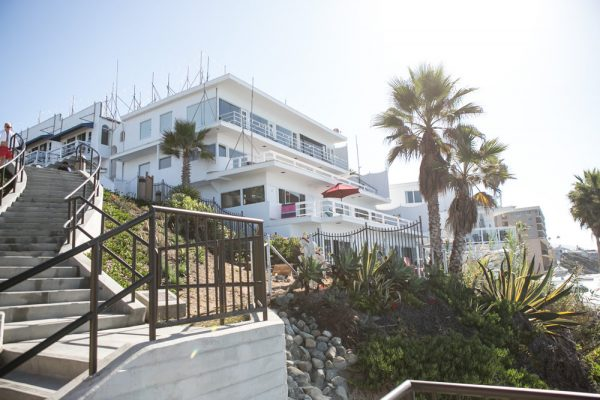 The ocean side of the Coast Inn.