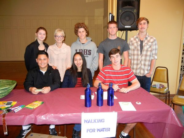 High school students are involved in Walking for Water, one of the holiday market exhibitors.