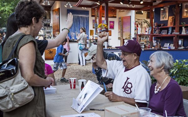 Skipper Carrillo at a book signing with his sister. Photo by Mitch Ridder.