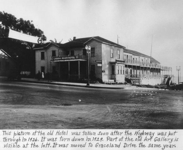 1.4 hotel highway Laguna Beach Hotel, built 1890s by Joseph Yoch demolished 1929