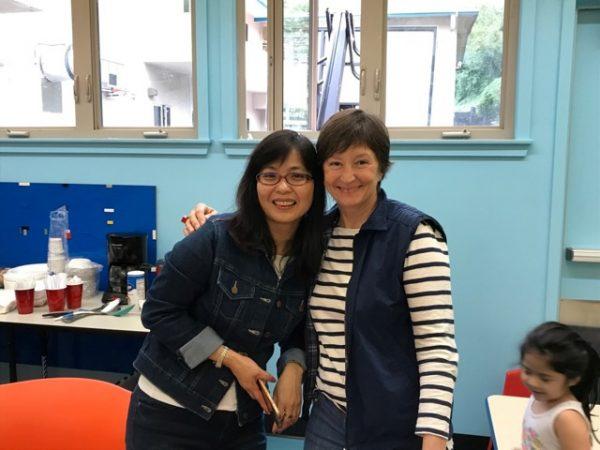 Kristina Fulep and Alice Wu, participants in La Playa classes.