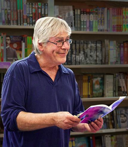Gardiner at a reading.