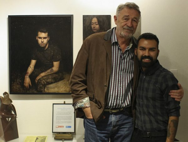 Miguel Gonzalez with gallery owner, Emir Bezdrob.