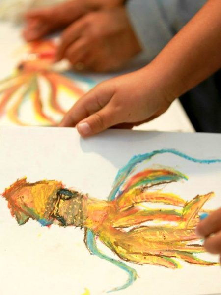 Learn to sketch a squid at an art workshop. Photo by LOCA