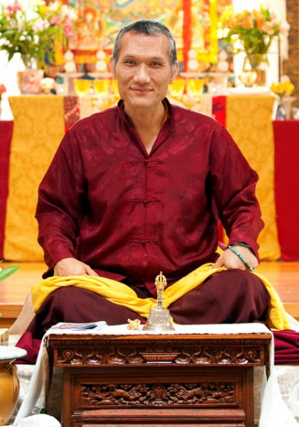 Tibetan Buddhist lama Yangsi Rinpoche is to speak at the Congregational Church on Sunday.