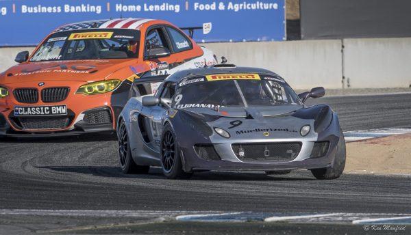 Nicolai Elghanayan races at Laguna Seca.
