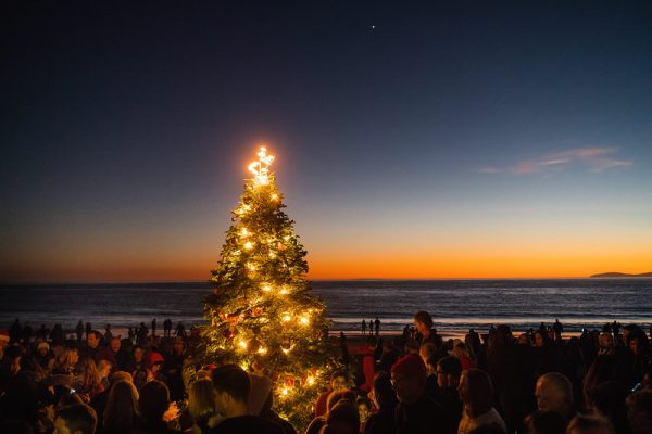 Christmas on the sands of Crystal Cove State Park.