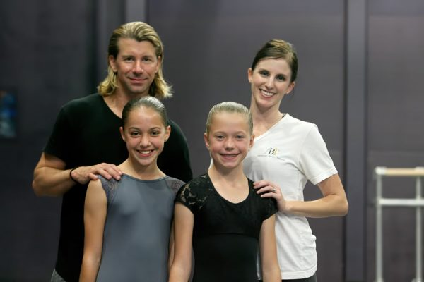 "Isabella Martino of Laguna Beach, right, with Amara Duke of Solana Beach, rehearse with dance instructors for ABT's Gillespie School and its ""Nutcracker"" production."