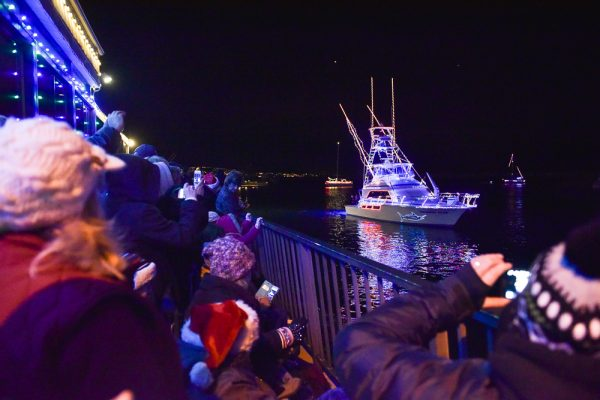 One of the entries in this year's Dana Point boat parade.