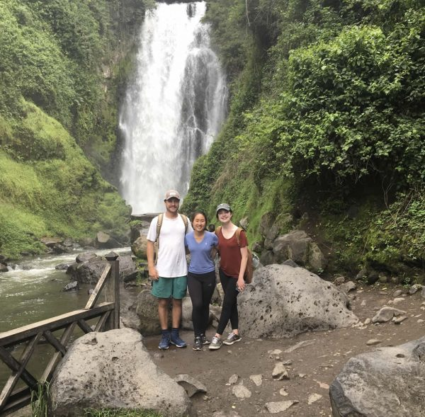 Jack Dickerson and friends visit Cascadas de Peguche near Otavalo, Ecuador.Photo courtesy of Jack Dickerson.
