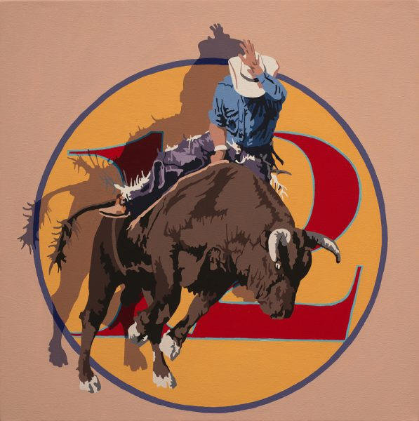 Artist Billy Schenck evokes the wild West in graphic imagery.