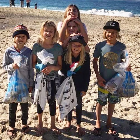 Youngsters do their part to wipe out litter.