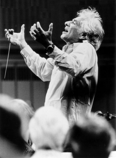Composer and conductor Leonard Bernstein is celebrated in concert.