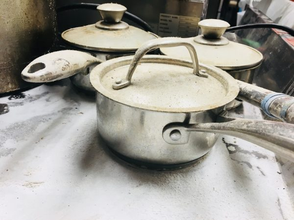 Ash covered pots in Central's kitchen.Photos courtesy of Central