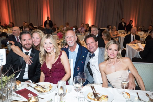 Dinner dance guests include, from left, Jason Reidel, Frana Sadler, Gorjana Reidel, Brent Martini, Emery Brett Ledger and Alison Ledger.