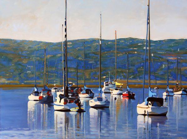 "An example of Tom Swimm's work, ""Colors of Santa Barbara."""