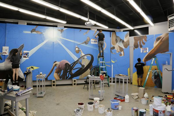 "New mural ""Upside Downtown"" to installed at LCAD."