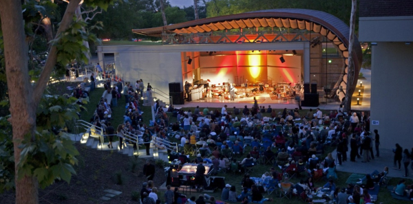 Wild Beast Music Pavillion at Cal Arts in Valencia provides a model of an outdoor venue with visually arresting infrastructure for performers.