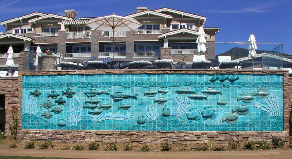 Noted ceramic artist Dora de Larios died in her native Los Angeles in January. Her legacy includes 40 public-art commissions, including a 7 by 40 foot porcelain mural in Laguna Beach. It depicts an underwater scene and faces a public park at the Montage resort.