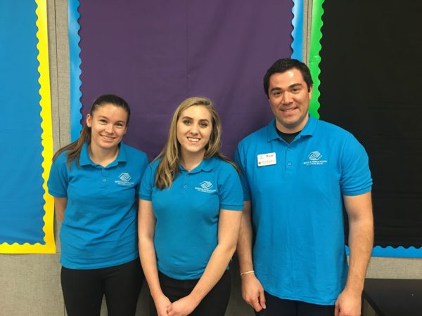 New Faces Lead the Club at Lang Park The Boys & Girls Club of Laguna Beach assigned Oscar Parra, Sophia Abjuga and Stormy Dvorak to lead activities at its Lang Park branch. Parra oversees Lang and Bluebird branches as site director. Photo: From left, Stormy Dvorak, Sophia Abjuga and Oscar Parra.