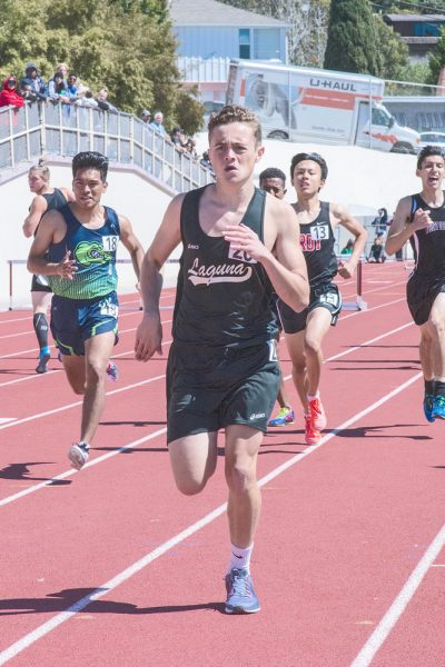 LBHS senior Oliver Russell competes in the 800-meter run and finished with a time of 2:14.16. The winning time was 1:55.18.