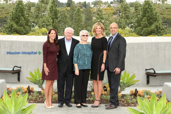 Donors Bill and Judi Leonard, second and third from left, flanked by hospital and foundation executives Jennifer Jones, Gwen Anderson  and Tarek Salaway.