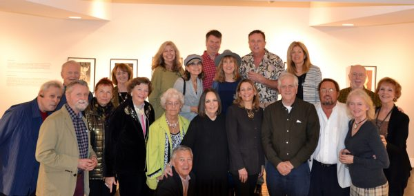 Artist Dan McCleary, third from right in front, discusses his work with Laguna Beach Sister Cities Association board members.