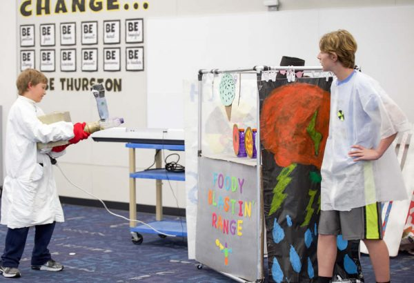Thurston students during their Destination Imagination presentation.