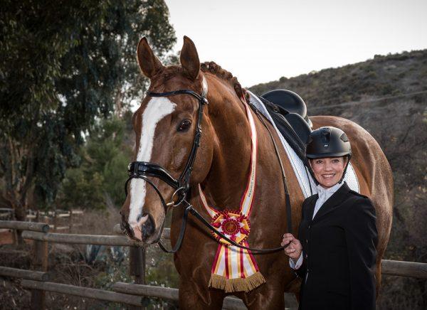 Lori Savit and her horse, Atticus.
