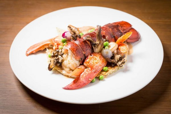 Plated lobster is also on the steak house menu in Monarch Beach.