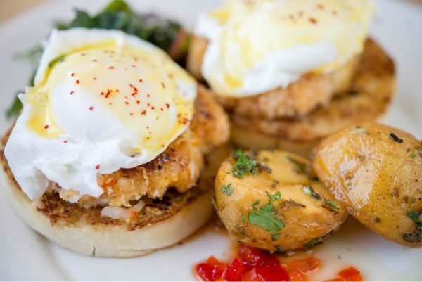 Eggs Benedict from Waterman's in Dana Point will be featured at Fresh Toast.